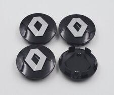 RENAULT ALLOY WHEEL CENTRE CAPS 57mm BLACK SET of 4 Megane Laguna Clio Twingo