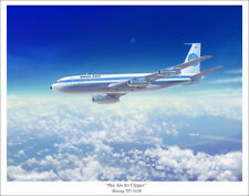 "Pan Am Jet Clipper 707 Aviation Art Print 11"" x 14"""