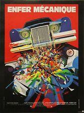 """""""ENFER MECANIQUE (THE CAR)"""" Affiche originale entoilée (Raymond MORETTI)"""