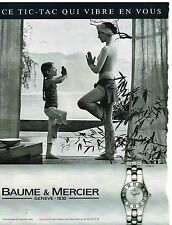 Publicité Advertising 2004 La Montre Linea par Baume & mercier