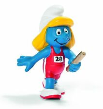 NEW WITH TAG - OLYMPIC RELAY RUNNER SMURF OLYMPICS by SCHLEICH THE SMURFS -20739