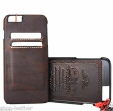 genuine full leather Case for apple iphone 6  6s thin wallet cover slim Art pro