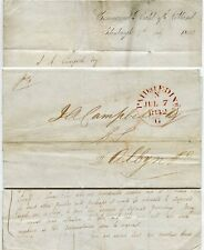 SCOTLAND 1842 PAID at EDINBURGH HANDSTAMP...COMMERCIAL BANK LETTERHEAD