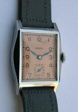 VINTAGE NOMECA RECTANGULAR MEN'S WRIST WATCH GERMANY 1930's NOS
