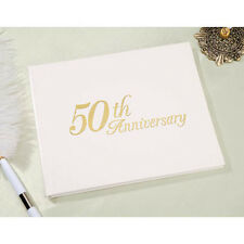50th Anniversary Guestbook Guest Book Registry by Vitoria Lynn - Gold
