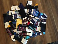 20 PAIRS MEN'S ADULTS BLACK COTTON SOCKS WITH MIX COLOURED UK SIZE 6-11 GJRDC