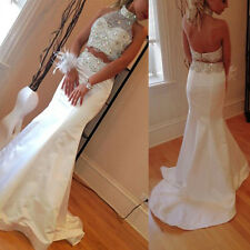 2 Piece Prom Dress White Evening Dresses Formal Dresses Gowns Party Dress