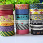 New Japanese 15mm Wide Decorative Craft Paper Washi Tape Mulit Choice
