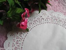 """10"""" INCH GLASSINE SHEER PAPER LACE DOILY 100 PCS CRAFT ROUND WHITE FREE SHIP"""
