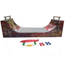 Christmas Gift ! Ramps for Finger Skate - HALFPIPE -Dimension: 28 X 12 X 10cm