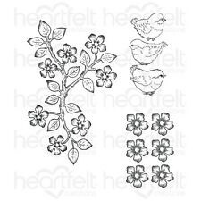 Heartfelt Creations - Birds and Blooms Cling Stamp Set