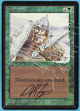 Ice Storm - Beta - ARTIST ALTERED - SIGNED - (ID# 10781) ABUGames