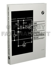 1992 BMW 850i Electrical Troubleshooting Manual Wiring Diagram Book