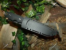 M-Tech U.S.A/Knife/Blade/Concealable/Full tang/Survival/440C/SS/ Carbon Titanium