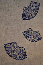 Japanese Cotton Yukata Blue and grey Fans and Orchids 104