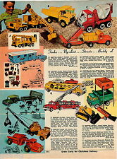 1967 ADVERT Tonka Toy Cement Mixer Truck Nylint Mobile Home Structo Buddy L