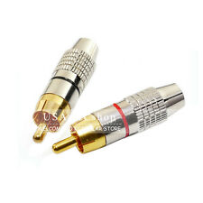 New RCA Male Plug Gold Solder Type Audio Video Adapter Connector Cable