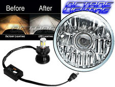 "7"" H4 CREE SMD 360° 4000Lm LED Light Bulb Projector Headlight Harley Motorcycle"