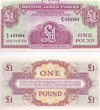 British Armed Forces one pound Special Voucher note 4th series
