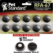 Pack 10 Replacement Battery PetSafe RFA-67 Fence Bark Training Collar Coin Slot