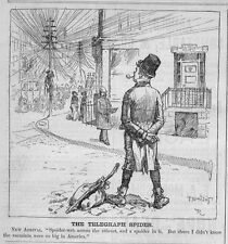IRISH IMMIGRANT ARRIVES IN NEW YORK MEETS THE TELEGRAPH SPIDER AMERICAN VARMINTS