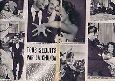 Coupure de presse Clipping 1959 Michaëlla Florès Amaya alias La Chunga (5 pages)