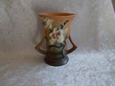 Vintage Brown Roseville Magnolia Double-Handled Vase - 88-6