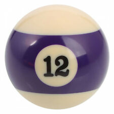"ORIGINAL 2"" PURPLE STRIPED N0 12 POOL BALL MAKES IDEAL NOVELTY GEAR KNOB"