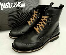 (Roberto) Just Cavalli Black Leather Shoes Boots UK8 IT42 US9