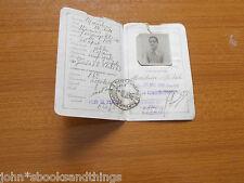 1936 REGNO D'ITALIA CARTA IDENTITA NAPOLI MARCO DA BOLLO ANNI 30 TESSERA EPOCA