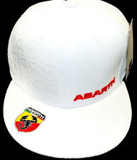 Fiat 500 Punto Evo Abarth Baseball Cap Hat White New + Genuine 59230302