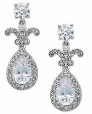 ELIOT DANORI by Nadri Rhodium-Plated Cubic Zirconia Tear Drop Earrings $55