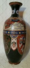Antique Japanese Cloisonne Vase With Pheonix, Dragon & Floral Decoration