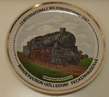 Volkswanderung 1987 Germany Locomotive Collectible Plate Dampfloomotive BR58 G12