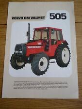 VOLVO BM VALMET 505 tracteur brochure JM