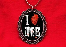 I HEART ZOMBIES LOVE HUMAN ANATOMICAL PENDANT NECKLACE