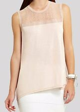 "BCBG NWT ""Lexi"" Lace Back Party Shirt Top New L HAJ1Q213"