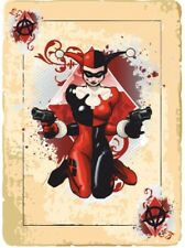 2 x Harley Quinn Card Ace Sticker Decal Motorbike Helmet Boards iPad Tank Batman