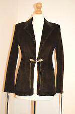 LADIES KAREN MILLEN ELEGANT BROWN CORDUROY TAILORED JACKET/BLAZER/COAT UK8 VGC