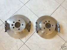 ROVER 75 + MG ZT (99-) TWO REAR SOLID BRAKE DISCS AND A SET FOUR PADS    NEW