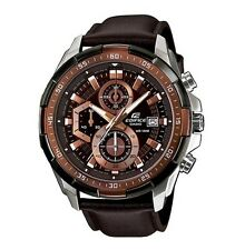 Casio Edifice EFR-539L-5A Chronograph Leather Strap Analog Men's Watch