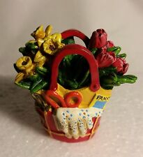 Miniature Dollhouse Fairy Garden Red Yellow Flower Tote Gloves Seeds Cutters