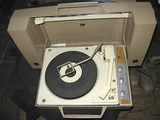 GE WILDCAT PORTABLE STEREO VINTAGE 1970 RECORD PLAYER