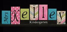 Teacher Name Letter Blocks,  Classroom Decor, Teacher Wood Letters