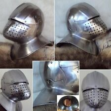 X-MAS SALE - Medieval Italian Helmet For Re-Enactment, LARP And Stage Use - 16G
