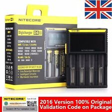 NITECORE D4 LCD INTELLICHARGER 18650 26650 IMR UNIVERSAL LIFEP04 BATTERY CHARGER
