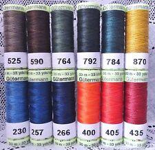 12 Heavy Duty GUTERMANN 100% Polyester Topstitching Thread 33 yard spools