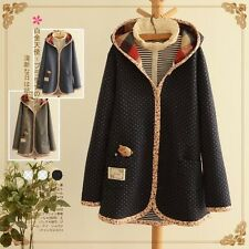 Brand New Korean Style Floral Hoodie Outwear Jacket Cardigan Sweatshirt Top S