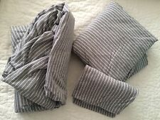 3pc SET Pottery Barn PB Teen QUEEN  (HEATHERED GRAY) one pillow case & sheets