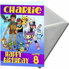 POKEMON - PERSONALISED  Birthday Card Large A5